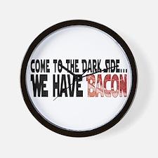 Dark Side of Bacon Wall Clock