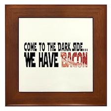 Dark Side of Bacon Framed Tile