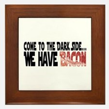 Dark Side of Bacon Framed Tile