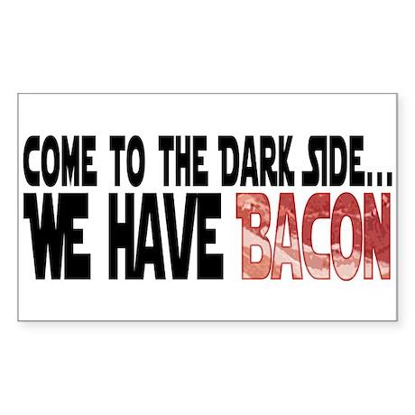 Dark Side of Bacon Sticker (Rectangle)
