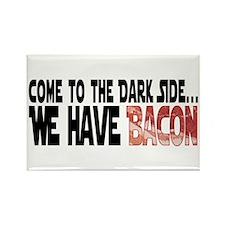 Dark Side of Bacon Rectangle Magnet
