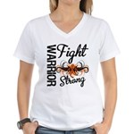 Leukemia Fight Strong Women's V-Neck T-Shirt