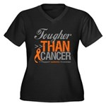 Tougher Than Cancer Women's Plus Size V-Neck Dark