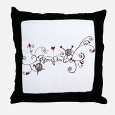 Unique Yarnaholic Throw Pillow