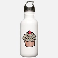 Country Calico Cupcake Water Bottle