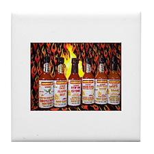Tile Coaster/w Scotty B's Hot Sauces