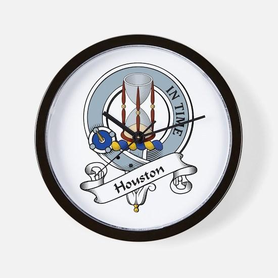 Houston Clan Badge Wall Clock