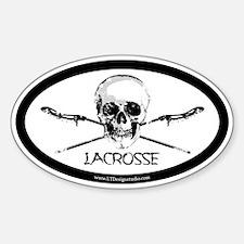 LAX Sticks & Skulls Sticker (Oval)