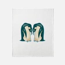 Penguin Power Throw Blanket