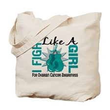 Licensed Fight Like A Girl 8.5 Ovarian Ca Tote Bag