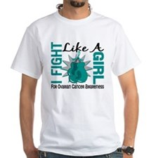 Licensed Fight Like A Girl 8.5 Ovari Shirt