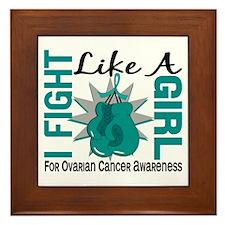 Licensed Fight Like A Girl 8.5 Ovarian Framed Tile