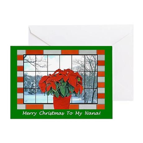 For My Nana Christmas Greeting Card