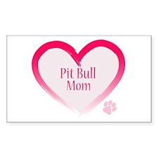 Pug Mom Rectangle Decal