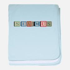 Seamus Alphabet Block baby blanket