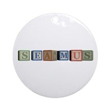 Seamus Alphabet Block Ornament (Round)