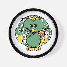 Retro Daisy Owl Wall Clock