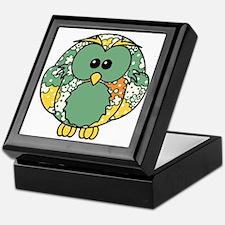 Retro Daisy Owl Keepsake Box