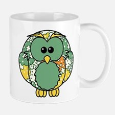 Retro Daisy Owl Mug