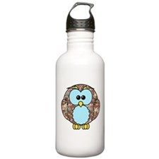 Country Rose Owl Water Bottle