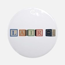 Laird Alphabet Block Ornament (Round)