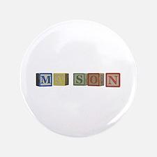 "Mason Alphabet Block 3.5"" Button (100 pack)"