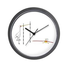 Pole Vault Wall Clock