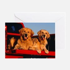 GOLDEN RETRIEVER PICKUP Greeting Card