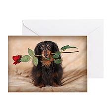 Hallie Dachshund Designs Greeting Card