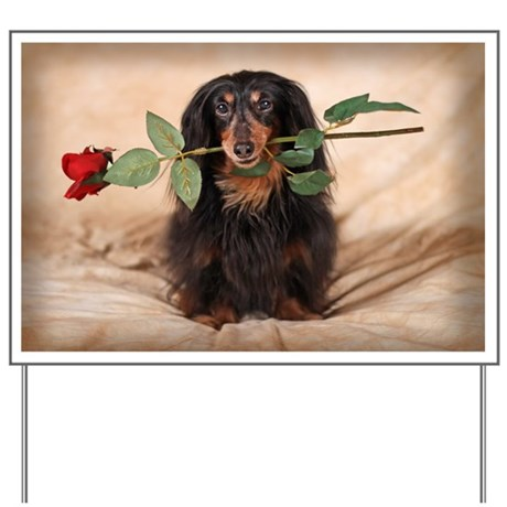 Hallie Dachshund Designs Yard Sign