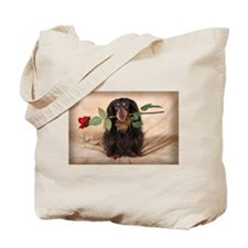 Hallie Dachshund Designs Tote Bag