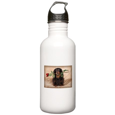 Hallie Dachshund Designs Stainless Water Bottle 1.