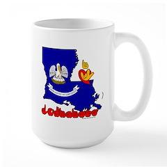 ILY Louisiana Mug