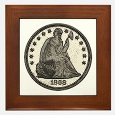 Seated Liberty Obverse Framed Tile