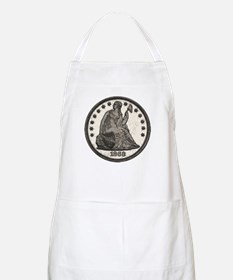 Seated Liberty Obverse BBQ Apron