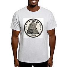 Seated Liberty Obverse Ash Grey T-Shirt