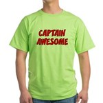 Captain Awesome Green T-Shirt