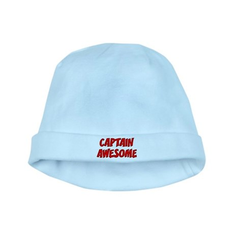 Captain Awesome baby hat