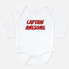 Captain Awesome Long Sleeve Infant Bodysuit