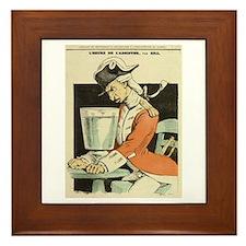 L'Heure d'Absinthe Framed Tile