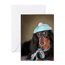 Hallie Dachshund Designs hat Greeting Card