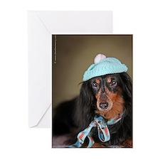 Hallie Dachshund Designs hat Greeting Cards (Pk of