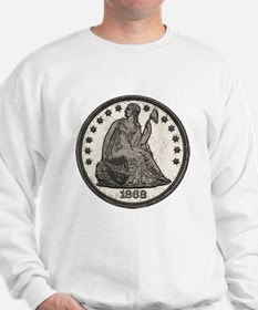 Seated Liberty Double-Sided Sweatshirt