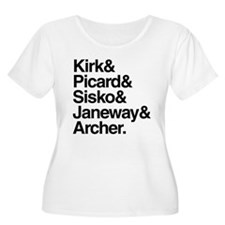 Star Trek Captains T-Shirt