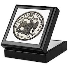 Seated Liberty Reverse Keepsake Box