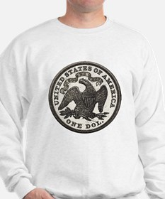 Seated Liberty Reverse Sweatshirt