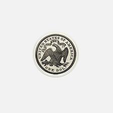 Seated Liberty Reverse Mini Button