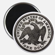 Seated Liberty Reverse Magnet
