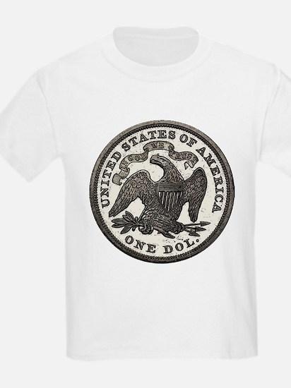 Seated Liberty Reverse Kids T-Shirt