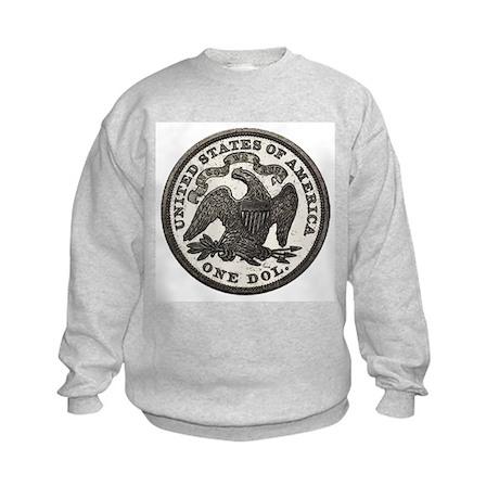 Seated Liberty Reverse Kids Sweatshirt